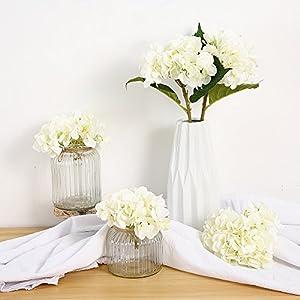 Felice Arts Artificial Hydrangea Silk Flowers for Wedding Bouquet Flower Arrangements Home Garden Party Decoration 17