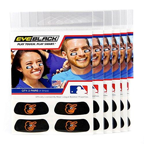 EyeBlack (24 Strips) - Baltimore Orioles MLB Eye Black Anti Glare Strips, Great for Fans & Athletes on Game Day
