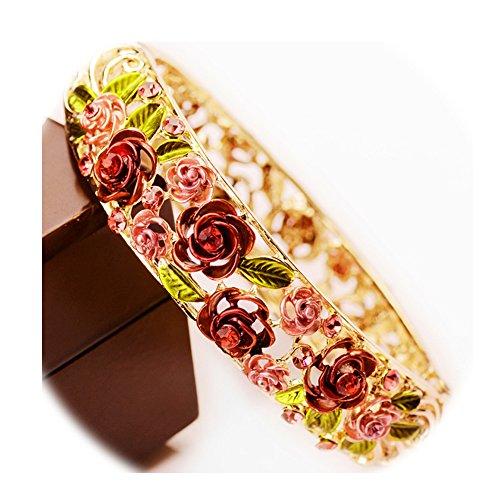 Flowers Red Gold Bracelet - 5