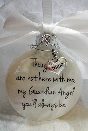 In Memory Nana Gift My Guardian Angel You'll Always Be - Grandmother Memorial Christmas Ornament