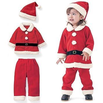 67d23b5fd99ef サンタクロース ベビー服 サンタコスプレ クリスマス コスプレ衣装 キッズコスチューム 3点セット 赤ちゃん 子供 着ぐるみ 帽子