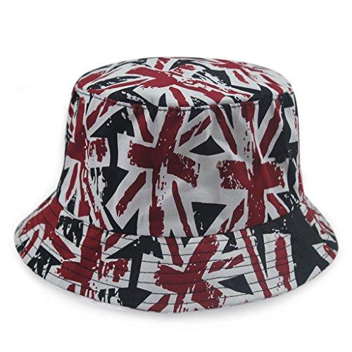 Gumstyle Unisex Bucket Hat Boonie Hunting Fishing Outdoor Cap Wide Brim Summer Sun Beach hats Union Jack ()