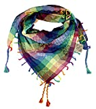 100% Cotton Traditional Hafiz design Shemagh Keffiyeh Scarf Wrap for Women and Men 43''x43'' by Tahrir Scarf