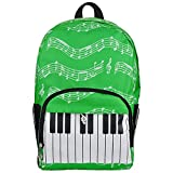 Mowind Music Element Bag Piano Musical Notes Print Travel Backpack Oxford Cloth
