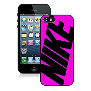 Fashionable And Durable Custom Designed Cover Case For iPhone 5S With Nike 26 Black Phone Case