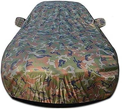 現代アクセント、ヘビーデューティスクラッチ証拠耐久カーカバー、防水雨防塵自動車屋内屋外と互換性通気性の良いフルカーカバー、 (Color : Camouflage)