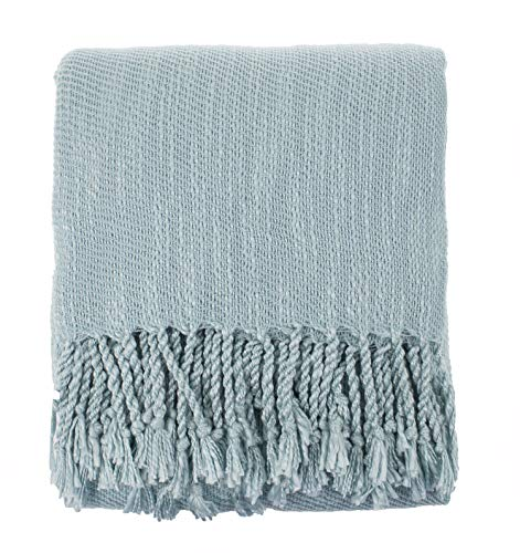 Fringed Fleece Throw - Fennco Styles Woven Classic Chunky Yarn Fringe Throw Blanket - 50