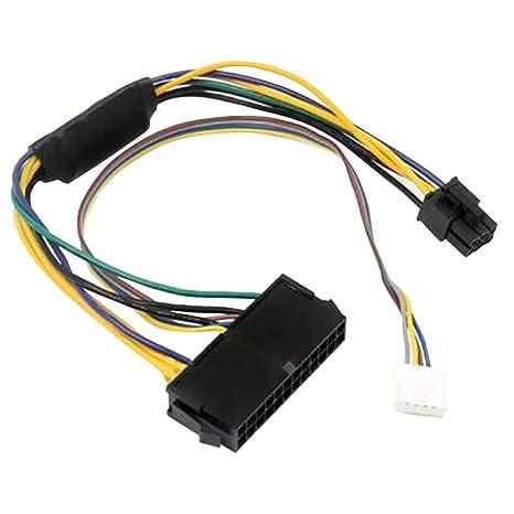 SAXTEL Cable de Fuente de alimentación Conector computadora ...