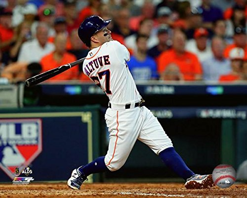 Jose Altuve Houston Astros 2017 ALCS Game 1 Home Run Photo (Size: 11