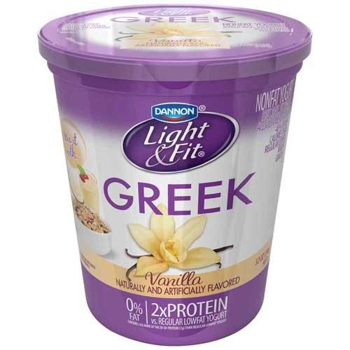 Light and Fit Greek Vanilla Non Fat Yogurt, 32 Ounce -- 6 per case. by Dannon (Image #1)
