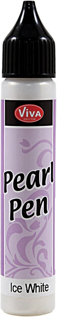 Viva Decor 25ml Pearl Pen, Ice White