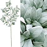 Supla-45-Tall-Artificial-Silk-Lambs-Ear-Leaf-Spray-in-Silver-Green-102-Pcs-Leaves-Artificial-Greenery-Holiday-Greens-Christmas-Greenery-Artificial-Plants-Wedding-Bouquet-Green-Leaf-Floral-Arrangement