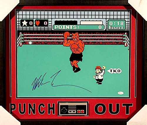 Mike Tyson Autographed Signed Punch Out 21x25 Custom Fram...
