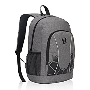Veegul Luminous School Backpack Teens Glow Bookbag Boys Daypack (Grey+)