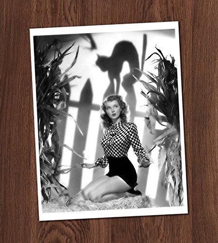 Farm Girl Pin Up Photo Vintage Art Print 8x10 Wall Art Halloween Decor -