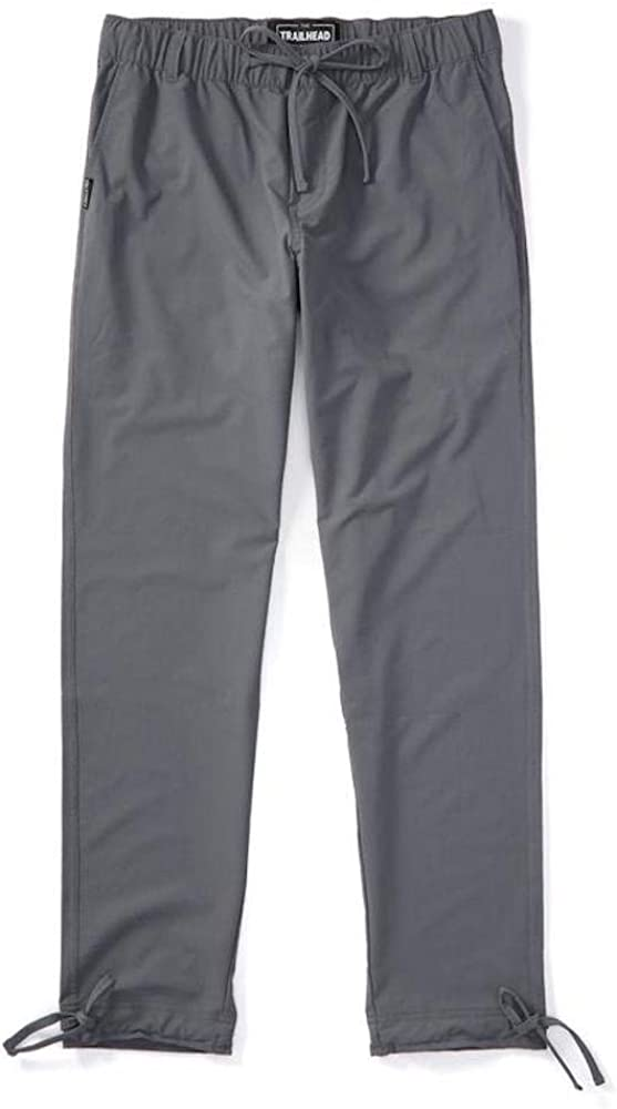 Trailhead Adventure Pant - Durable, Lightweight, Waterproof, Packable for Outdoors, Travel, Climbing, Hiking (Medium (Slim-fit), Gray)