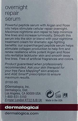 51pWVcDxA%2BL - Dermalogica Overnight Repair Serum, 0.5 Fl Oz - Anti Aging Face Serum with Peptides, Argan Oil and Rose Oil