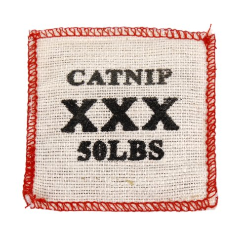 Knight Pet Cat Toy Burlap Bag with Catnip