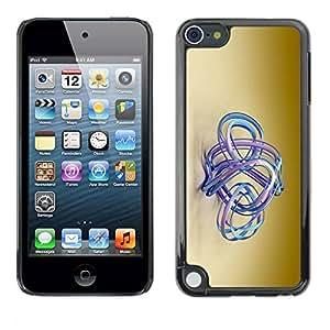 PC/Aluminum Funda Carcasa protectora para Apple iPod Touch 5 blue aqua water golden brown beige / JUSTGO PHONE PROTECTOR