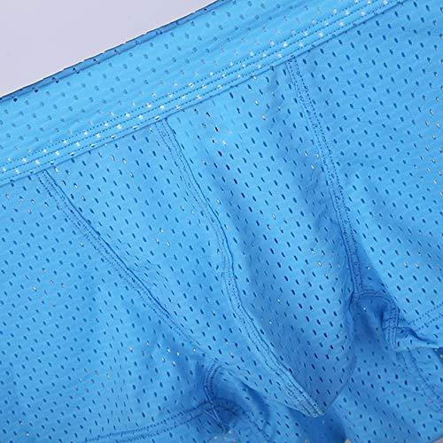 Confortable Costura Suave Interior Respirable Boxers Paquete Malla Ropa Blue Bragas 2 Hombres De Sin Xxy q7nPZHwIZ