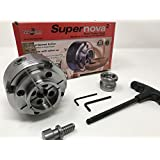 "TEKNATOOL SUPERNOVA 2 CHUCK W/2"" JAWS & WOODWORM SCREW (SUPERNOVA2) W/1"" X 8TPI INSERT"