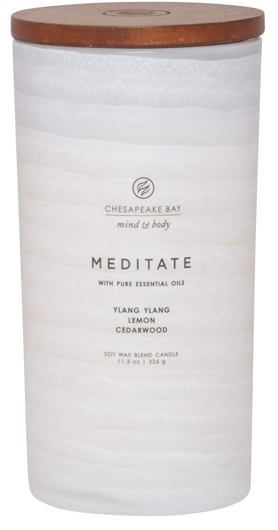Chesapeake Bay Candle Mind & Body Serenity Scented Candle, Meditate with Pure Essential Oils (Ylang Ylang, Lemon, Cedarwood), Large