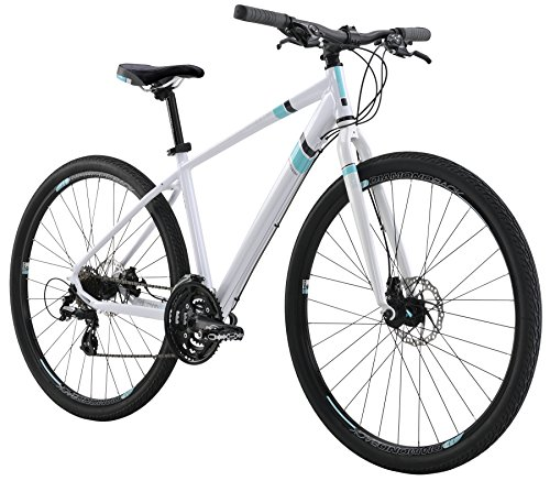 "Diamondback Bicycles 2016 Calico Women's Specific Complete Dual Sport Bike, 20""/Large, Pearl White"
