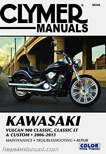 Classic LT & Custom Clymer Manual M246 2006-2013 Kawasaki Vulcan ...