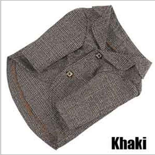 Khaki Coat 3XL Khaki Coat 3XL FidgetKute Pet Dog Cat Business Suit Coat Puppy Suit Vest Jacket Clothes Gentleman Costume Khaki Coat 3XL