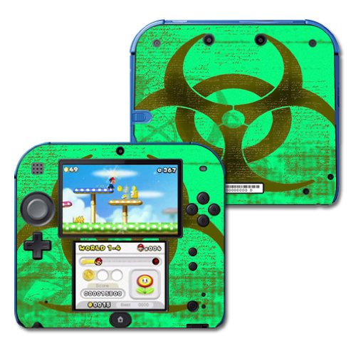 MightySkins Skin Compatible with Nintendo 2DS - Biohazard | Protective, Durable, and Unique Vinyl Decal wrap Cover | Easy to Apply, Remove, and Change Styles | Made in The USA