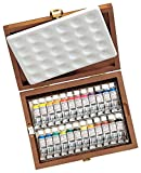 Schmincke Horadam Aquarell 5ml Paint Tube Set in Wooden Box, Set of 24 Colors (74224097)