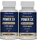 2 x Male Enhancement Pills: Men's Natural Sex Supplement - Sexual Health & Libido Booster - Top Rated Natural Male Enhancement - Sexual Enhancement Pills Stamina.