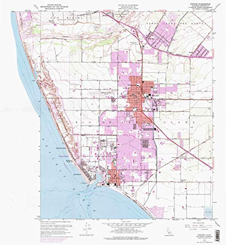YellowMaps Oxnard CA topo map, 1:24000 Scale, 7.5 X 7.5 Minute, Historical, 1949, Updated 1974, 26.9 x 24.8 in - Polypropylene ()