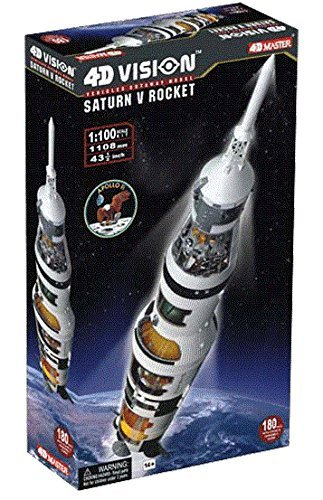 Famemaster 4D-Vision Saturn V Rocket Model 1:100 Scale ()