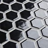 SomerTile Retro Hexagon Porcelain Floor and Wall