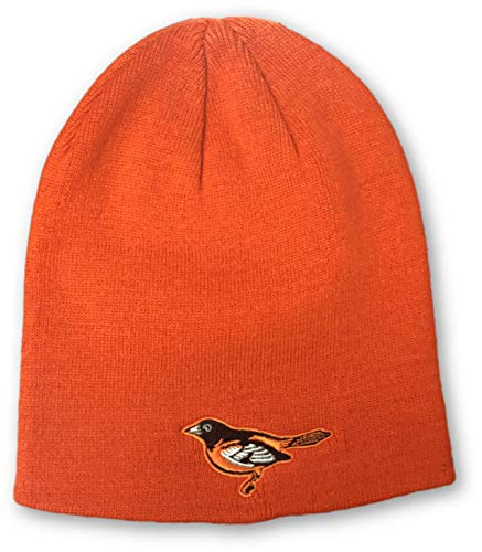 - OC Sports Baltimore Orioles Bird Logo Knit Beanie Hat Orange