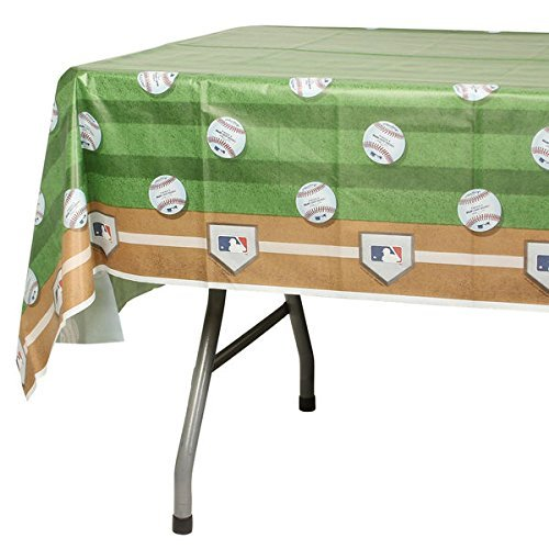 Amscan Rawlings Baseball MLB Plastic Table Cover, 54 x 102'' (3-Pack)