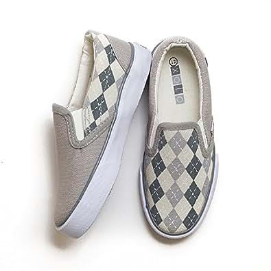 Amazon.com | XOLO Shoes, Toddler Boys Slip on, Preppy Boy ...