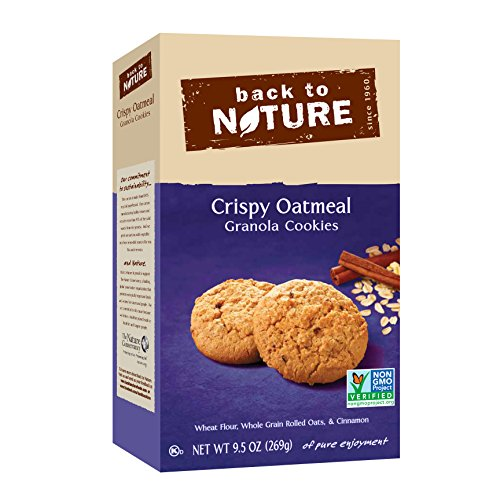 (Back to Nature Non-GMO Crispy Oatmeal Cookies, 9.5 Ounce )