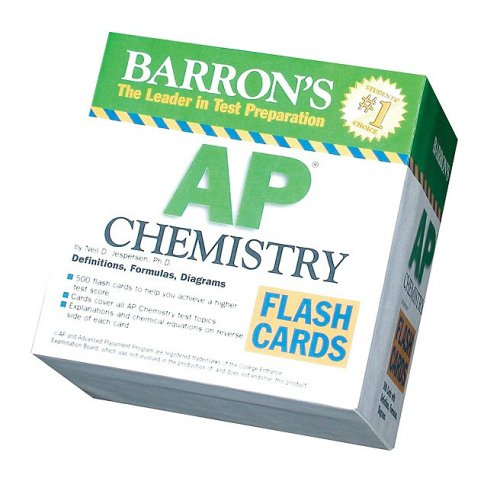 Barron's AP Chemistry Flash Cards (Barron's: the Leader in Test Preparation)