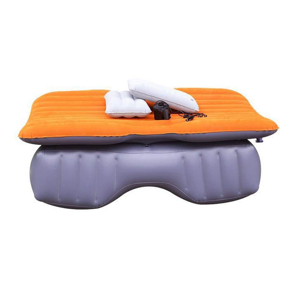 Car Inflatable Mattress Thicken Travel Bed Foldable Car Back Seat Cushion Rear and Sleeping Inflatable Bed Outdoor Camping Air Bed CIM0929 (Color : B) by ZCY-Auto Mattress