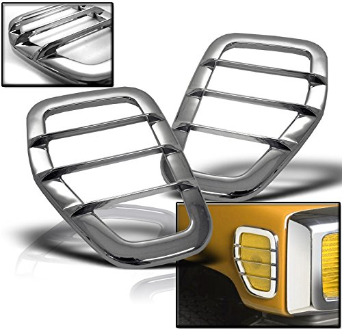 ZMAUTOPARTS Hummer H3 Side Marker Light Covers Guard Trim Chrome Left+Right Pair