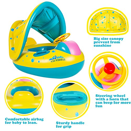 punada Baby Pool Float with Cano...