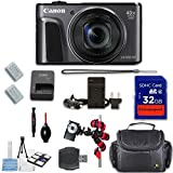 Canon PowerShot SX720 HS Digital Camera (Black) + Extremespeed 32GB High Speed Memory Card + High Speed Memory Card Reader + Spider Tripod + Camera Case and More