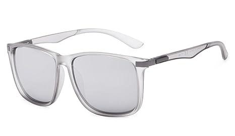 Eyekepper cuadrado grande marco gafas de sol bifocales para hombres y mujeres (Transparent Plata Espejo, 1.00)