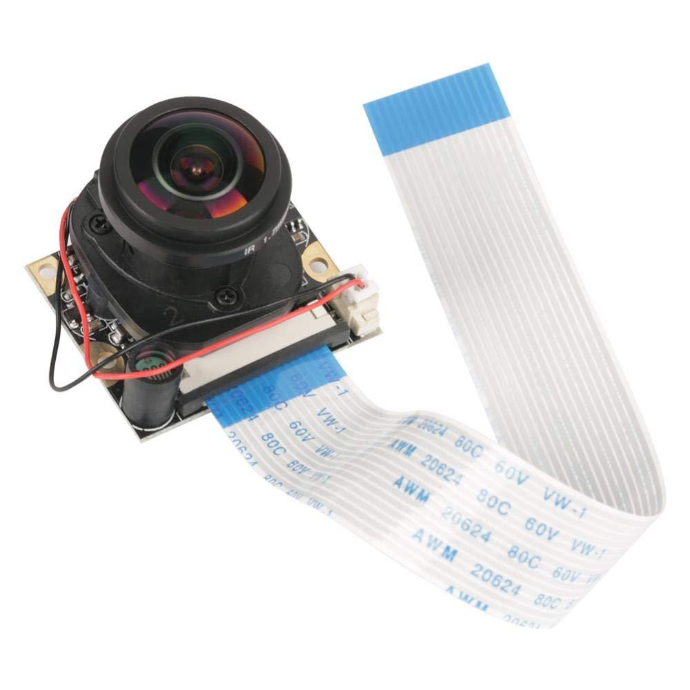 Akozon Camera Module 5 Million Pixels OV5647 Sensor HD Video Webcam Supports Night Vision Automatically Switch IR Cut Camera Module Board mit Fill Lights for Raspberry pi B 3/2(Without Fill Light)