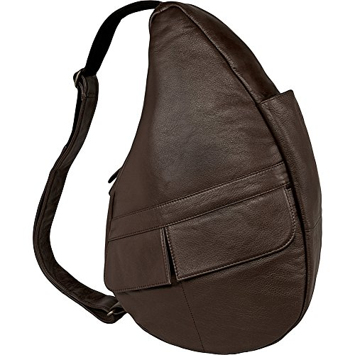 Classic Leather Healthy Back Bag Small Sling Color: Espresso by AmeriBag