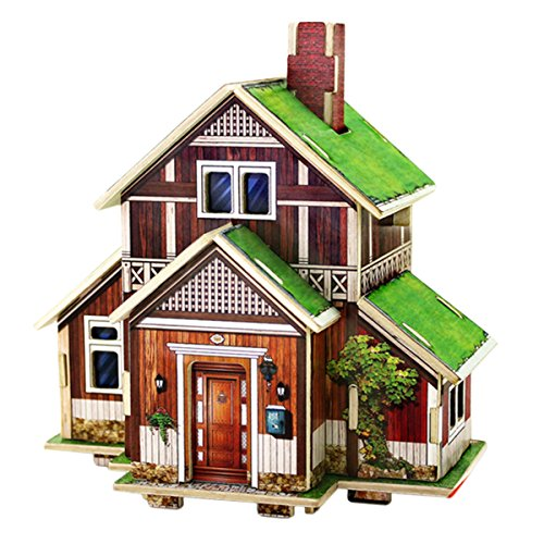 DIY Dollhouse Miniatures Wooden House Kit 3D Puzzle Game Nice Handmade Gift for Brithday or Festival - Norway Folk House
