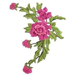 Leisial™ 1X Parches Parches Etiqueta de Apliques Bordado Collar de Flores para Coser para Decoración Vestido Sombrero Vaqueros Accesorios de Vestir