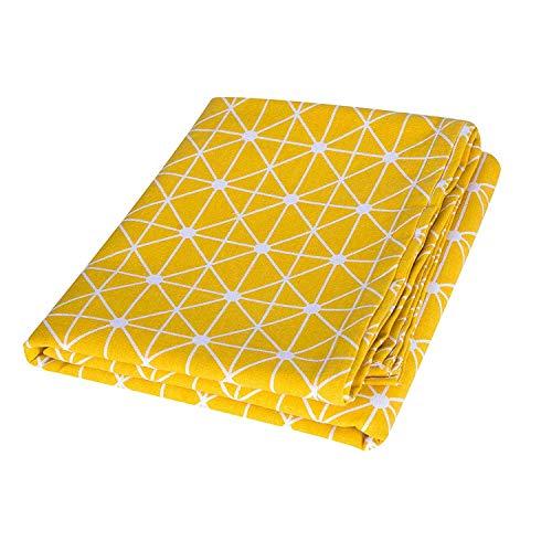 Asvert Yellow Tablecloth Rectangular Natural Cotton Dots